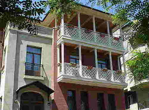 17.The Tbilisi houses with balconies