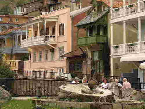 18.The Tbilisi houses with balconies