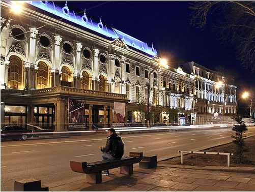 37.Theatre of name Руставели at night
