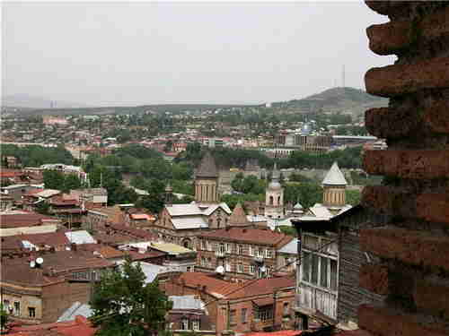 56.Panorama of the Tbilisi area